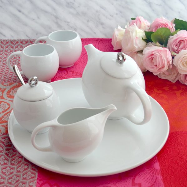 6 piece Eva teaset white