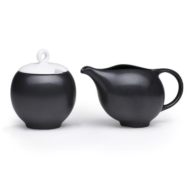 Modern ceramic milk and sugar set