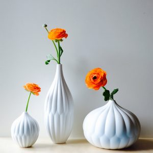porcelain ceramic bud vase set