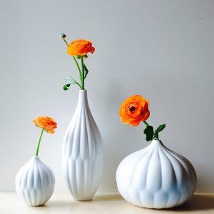 porcelain ceramic bud vase set