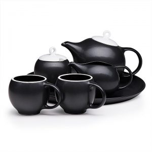 6 piece Eva teaset black