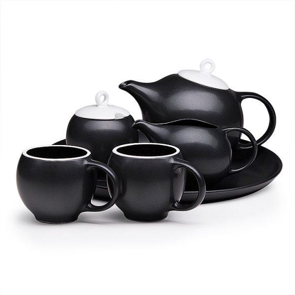 6 piece Eva modern tea service