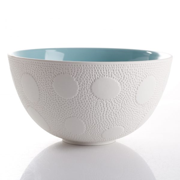 aqua textured bowl