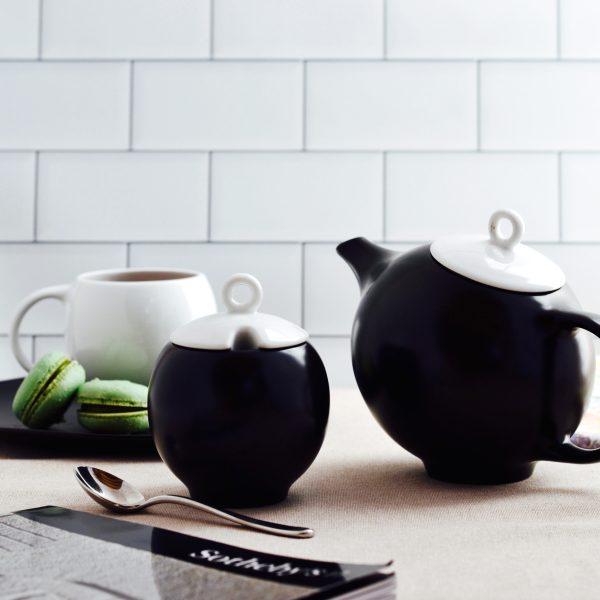 black Eva teapot