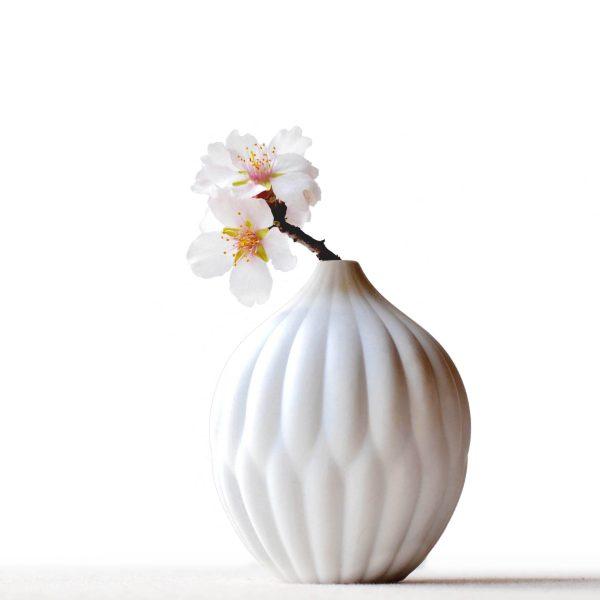 petite textured bud vase