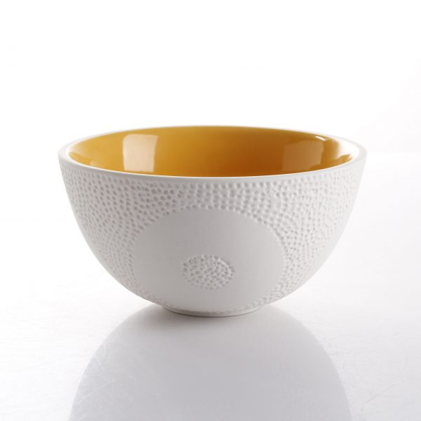 orange textured bowl