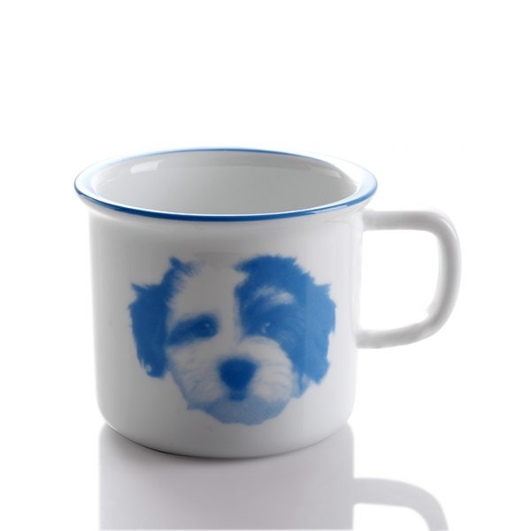 baby animal mug blue puppy