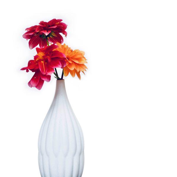 decorative textured porcelain vase